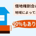 借地権割合は地域差が大きい